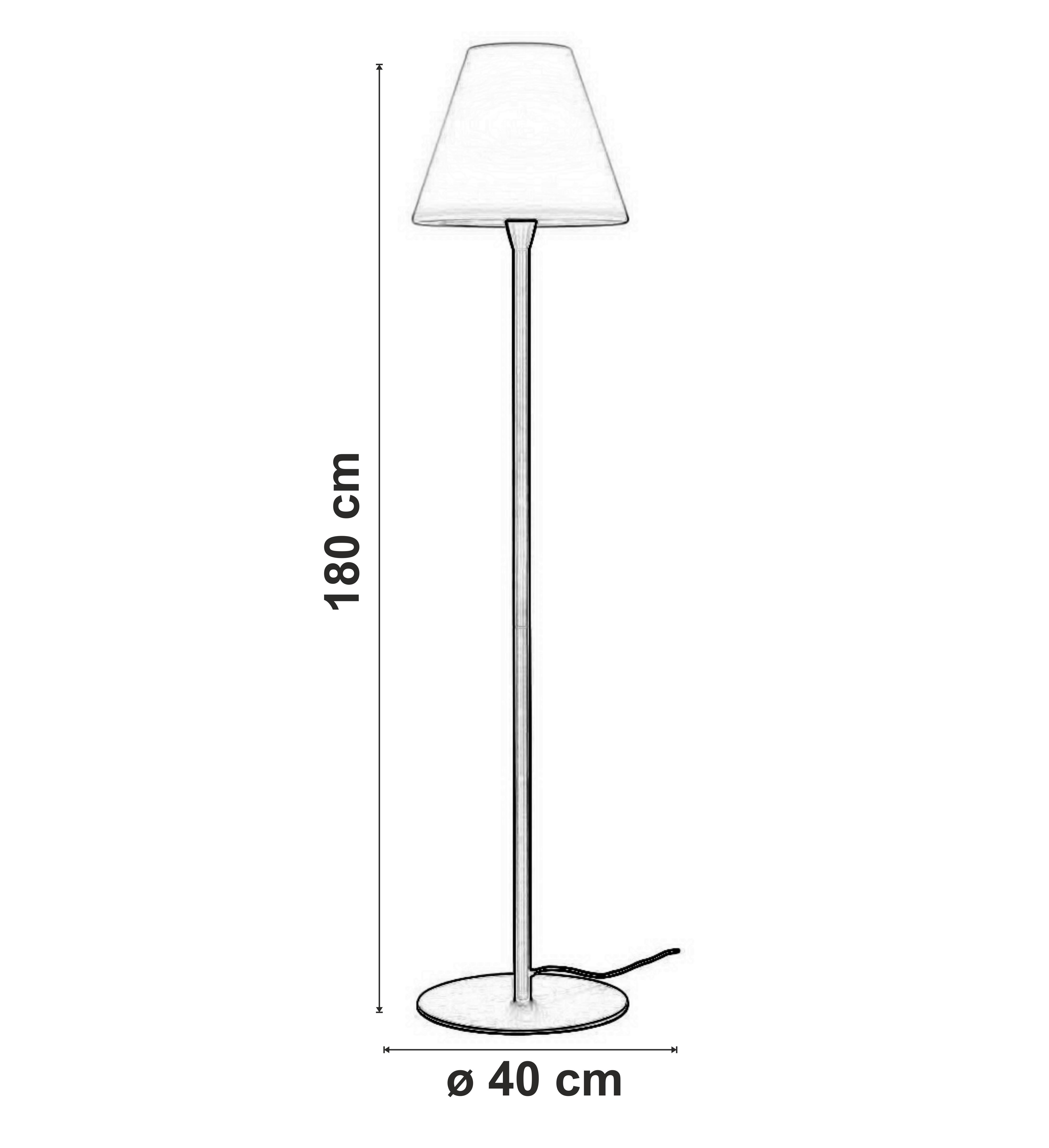 dimensiuni Lampadar pentru exterior Adegan