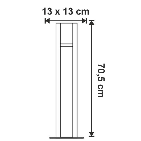 dimensiuni Stalpisor pentru exterior Arrock