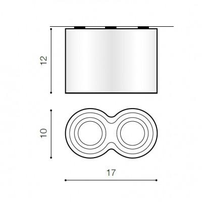 Plafoniera Bross 2 dimensiuni