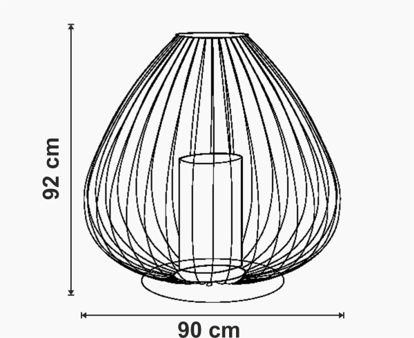 Lampadar pentru exterior Cell dimensiuni