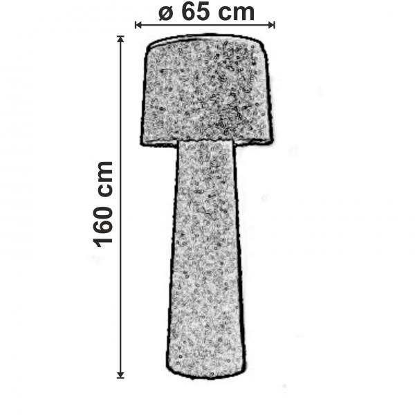 dimensiuni Lampadar pentru exterior Erbavoglio
