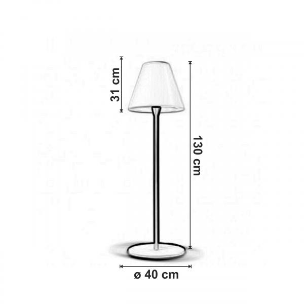 dimensiuni Lampadar pentru exterior Pascia