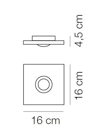 Plafoniera Pois dimensiuni