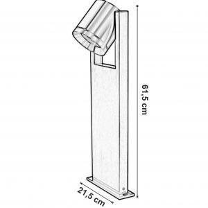 Dimensiuni Stalpisor pentru exterior Rox Pathlighting