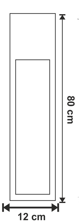 dimensiuni Stalpisor pentru exterior Rusty Slot