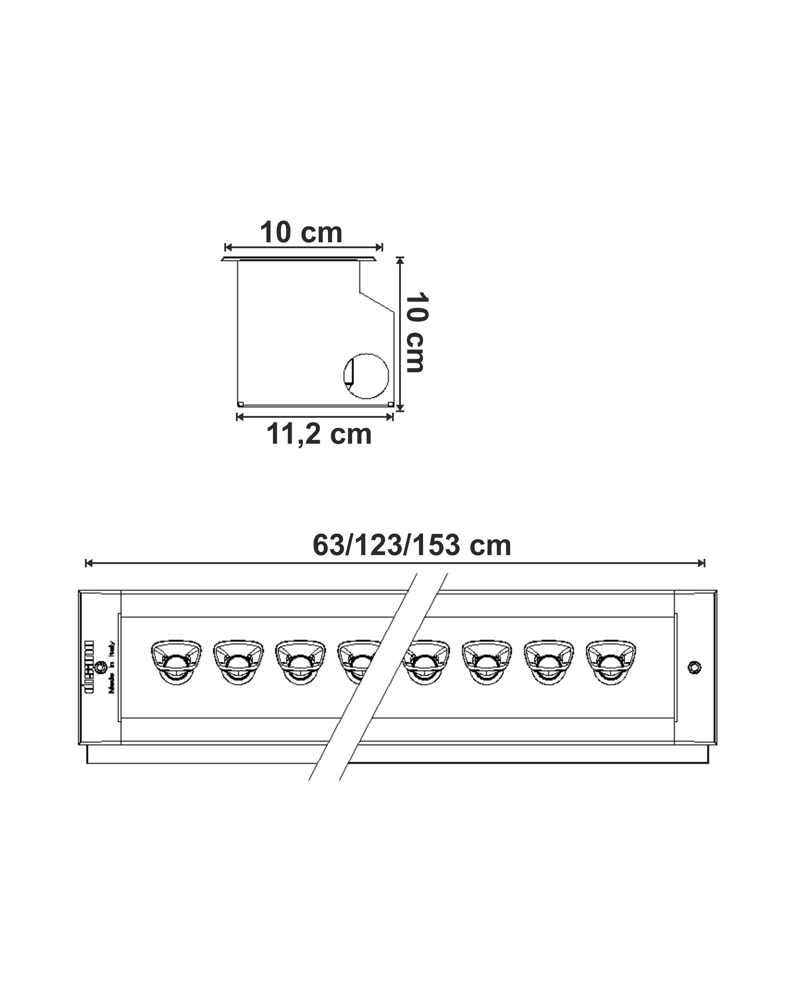 Dimensiuni Incastrabil Sicura LED simetric