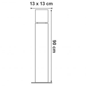 dimensiuni Stalpisor pentru exterior Square Pole