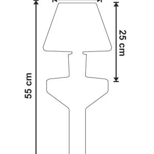 Lampa pentru gradina Waterproof dimensiuni