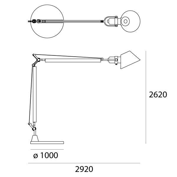 dimensiuni lampadar de exterior Tolomeo XXL