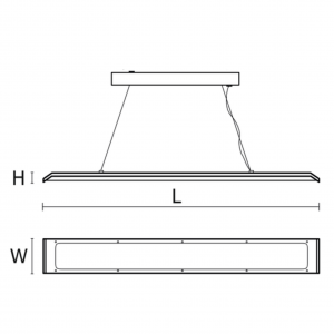 Lustra Milena LED dimensiuni