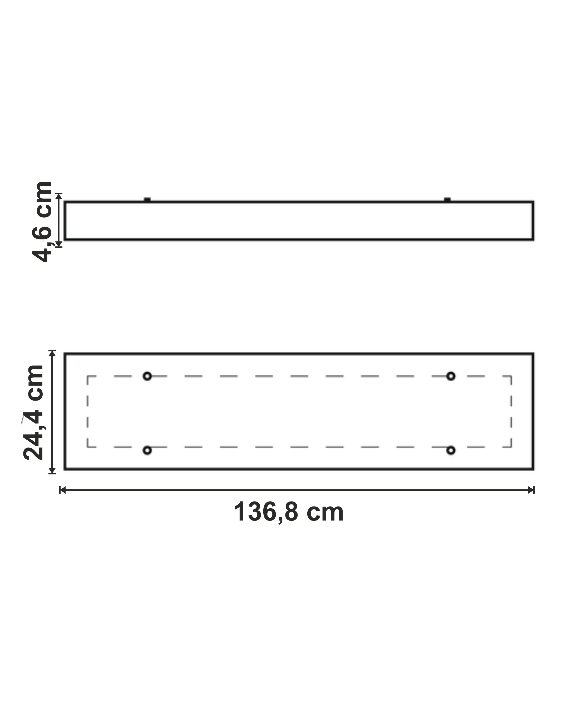 Lustra Track Pro LED dimensiuni