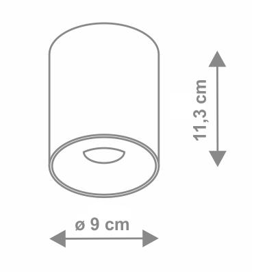corp de iluminat aplicat cilindro dimensiuni