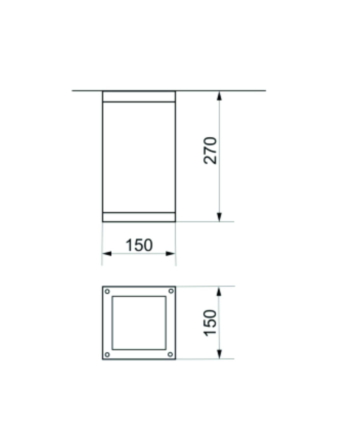 Plafoniera pentru exterior Emy dimensiuni