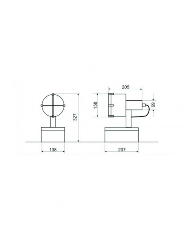 Proiector pentru exterior Flavius dimensiuni