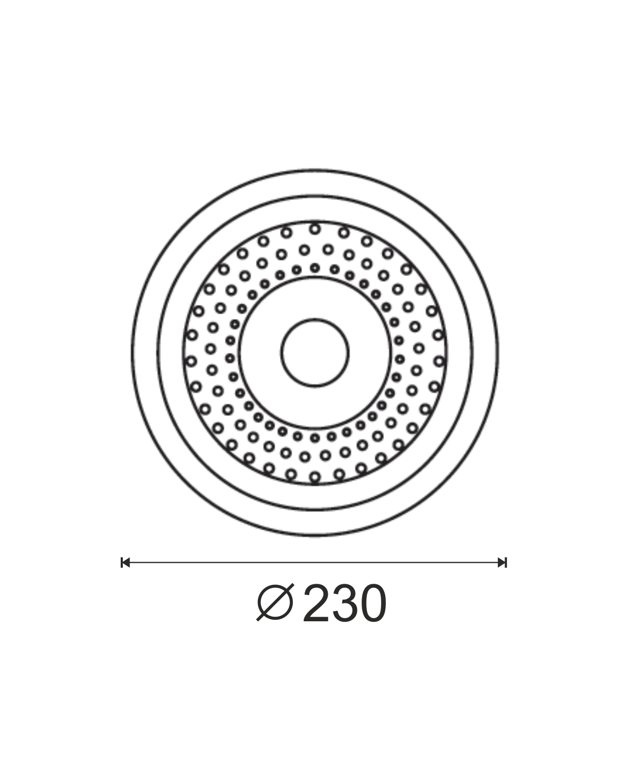 Spot Incasso 2x26 dimensiuni