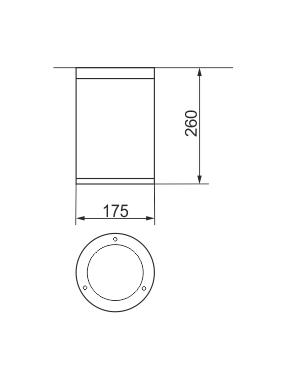 Plafoniera pentru exterior Luky dimensiuni