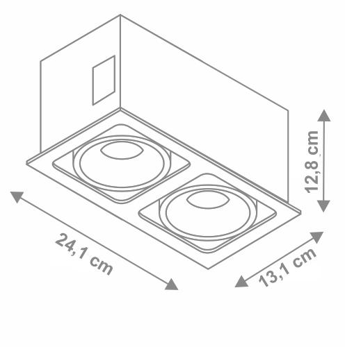 Orient corp de iluminat incastrabil dimensiuni v4