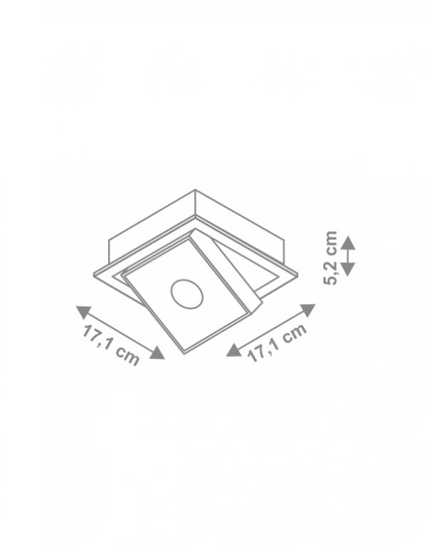 Corp de iluminat incastrabil Square dimensiunii