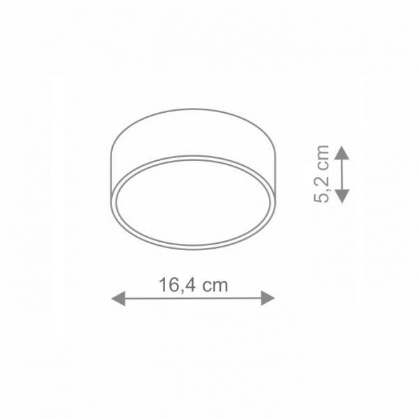 Plafoniera Wheel LED dimensiuni
