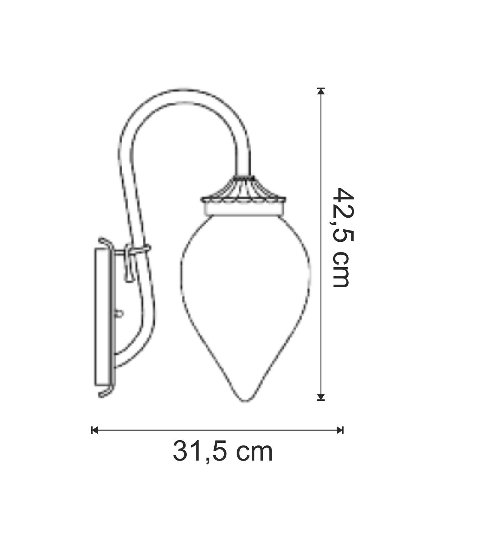 dimensiuni Aplica pentru exterior Gocce di Luce 1