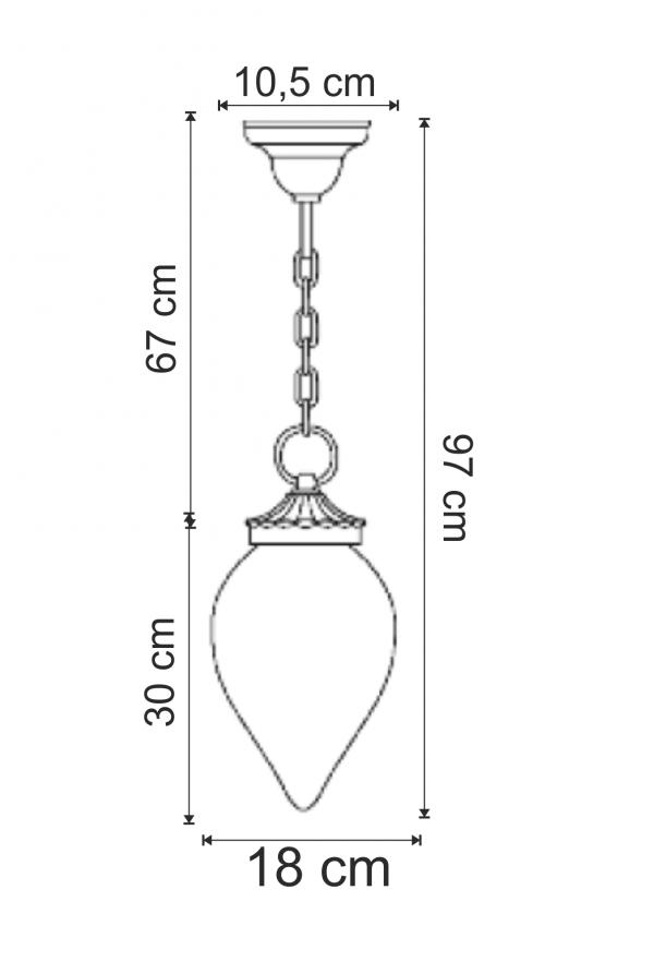 Aplica pentru exterior Gocce di Luce lustra dimensiuni