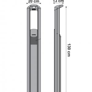 Kimo 534M stalpisor pentru exterior dimensiuni