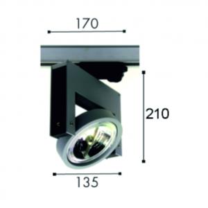 Proiector Minimal AR 111 dimensiuni