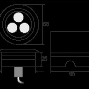 Spot incastrabil LEDIN 301 dimensiuni