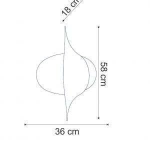 Lustra Amon - dimensiuni aplica