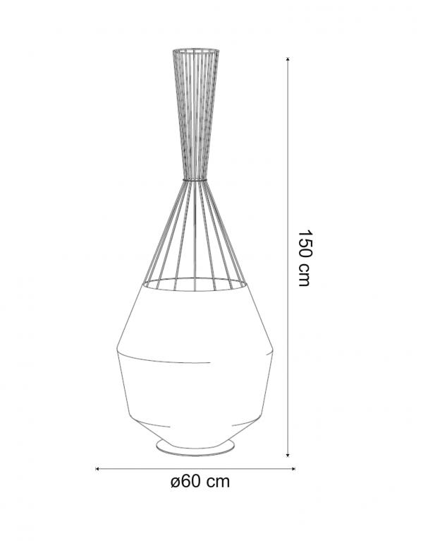 Lampadar Net TR dimensiuni