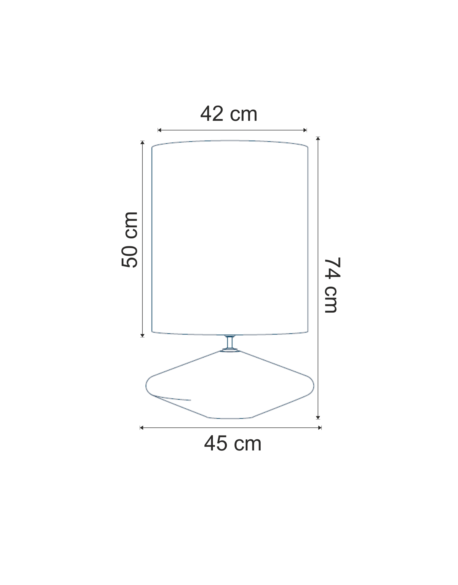 Lampa de masa Tam dimensiuni