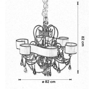 Lustra Foulard dimensiuni