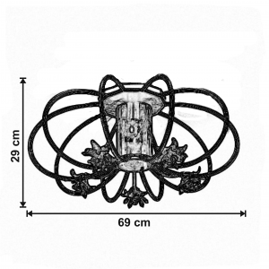 Plafoniera 6880_P101 dimensiuni