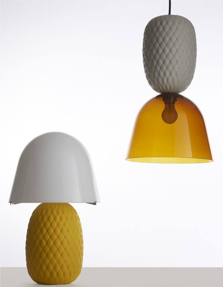 Lustra Pineapple si lampa de masa