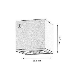 Plafoniera Cube dimensiuni