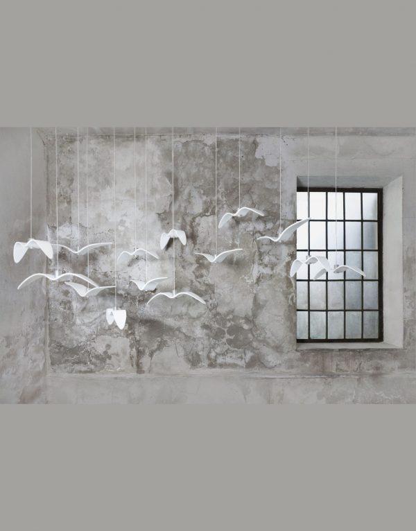 Lustra de interior Night Birds alb ambient
