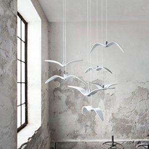 Lustra de interior Night Birds alb amenajare