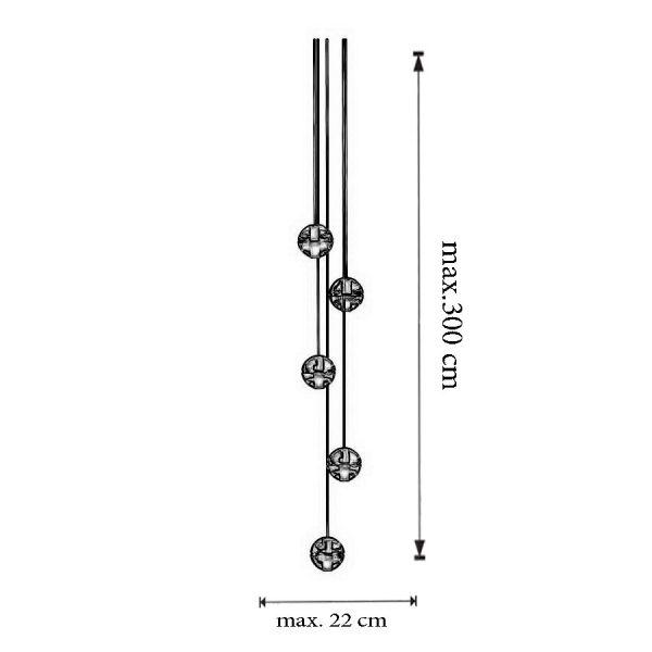 Dimensiuni Lustra 14