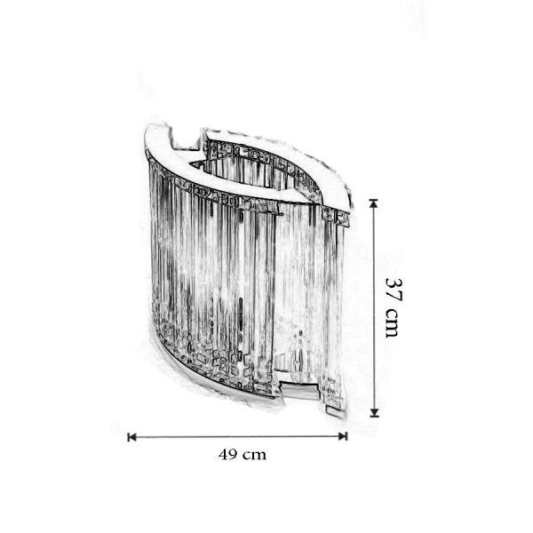 Dimensiuni Lampa de masa 1638