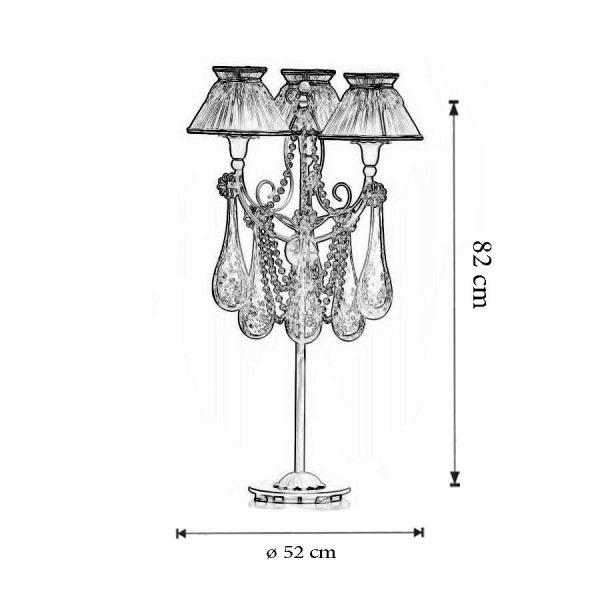 Dimensiuni Lampa de masa 1823
