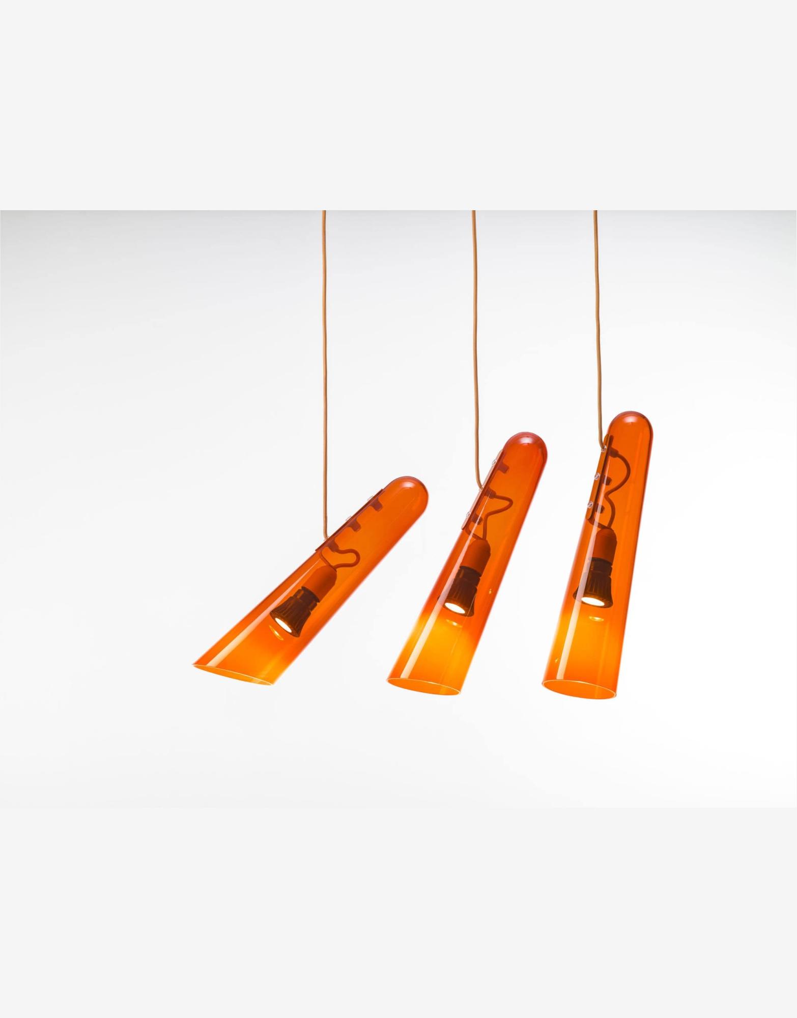 Lustra de interior Flutes orange