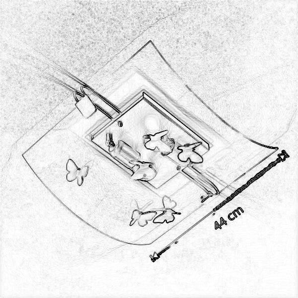 Dimensiuni Plafoniera Alba PL