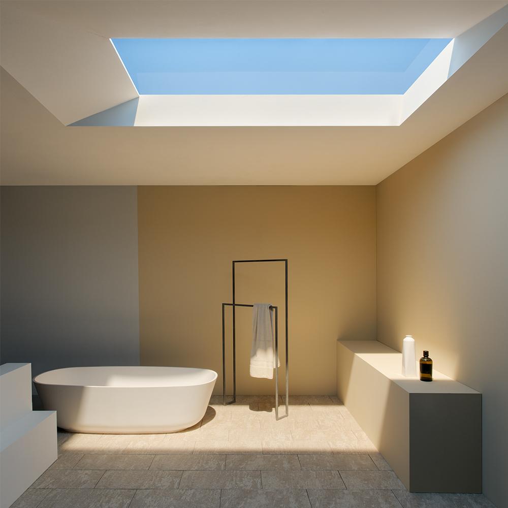 lumină naturală în baie